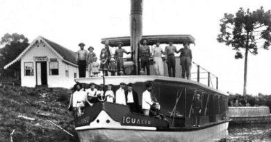 Os barcos a vapor nos rios na década de 1930<BR><BR>